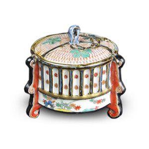 伊万里柿右衛門様式昔の香炉