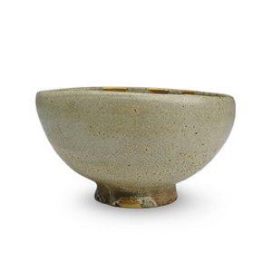 古唐津御本手沓型茶碗