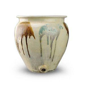 小鹿田焼水瓶仏教閼伽
