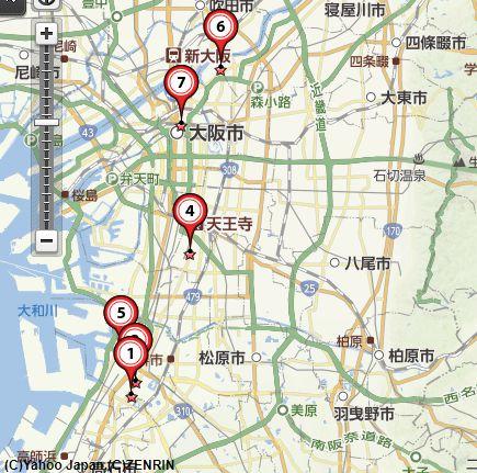 大阪骨董買取地図