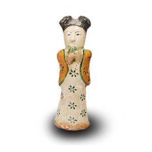 金三彩美人俑中国古陶器置物
