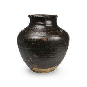 日本古代陶器古瀬戸波状文三耳壺