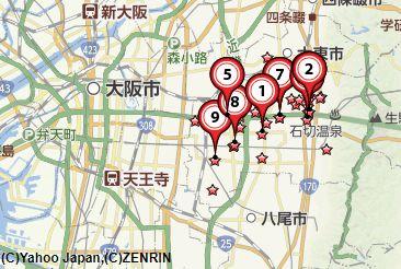 東大阪骨董買取会社地図