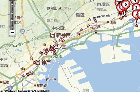 神戸骨董買取地図
