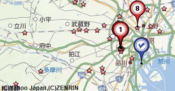 東京都内骨董店地図